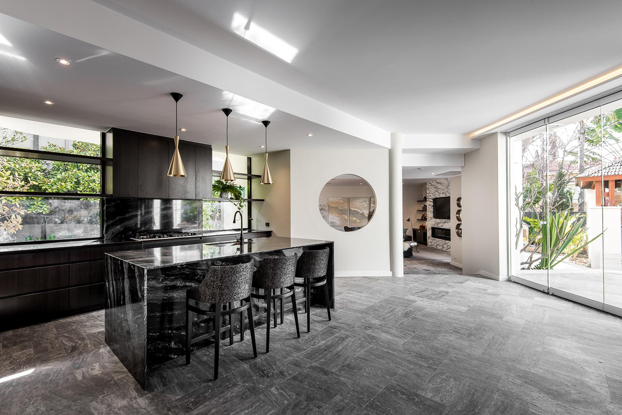 onyx benchtop porcelain stone kitchen