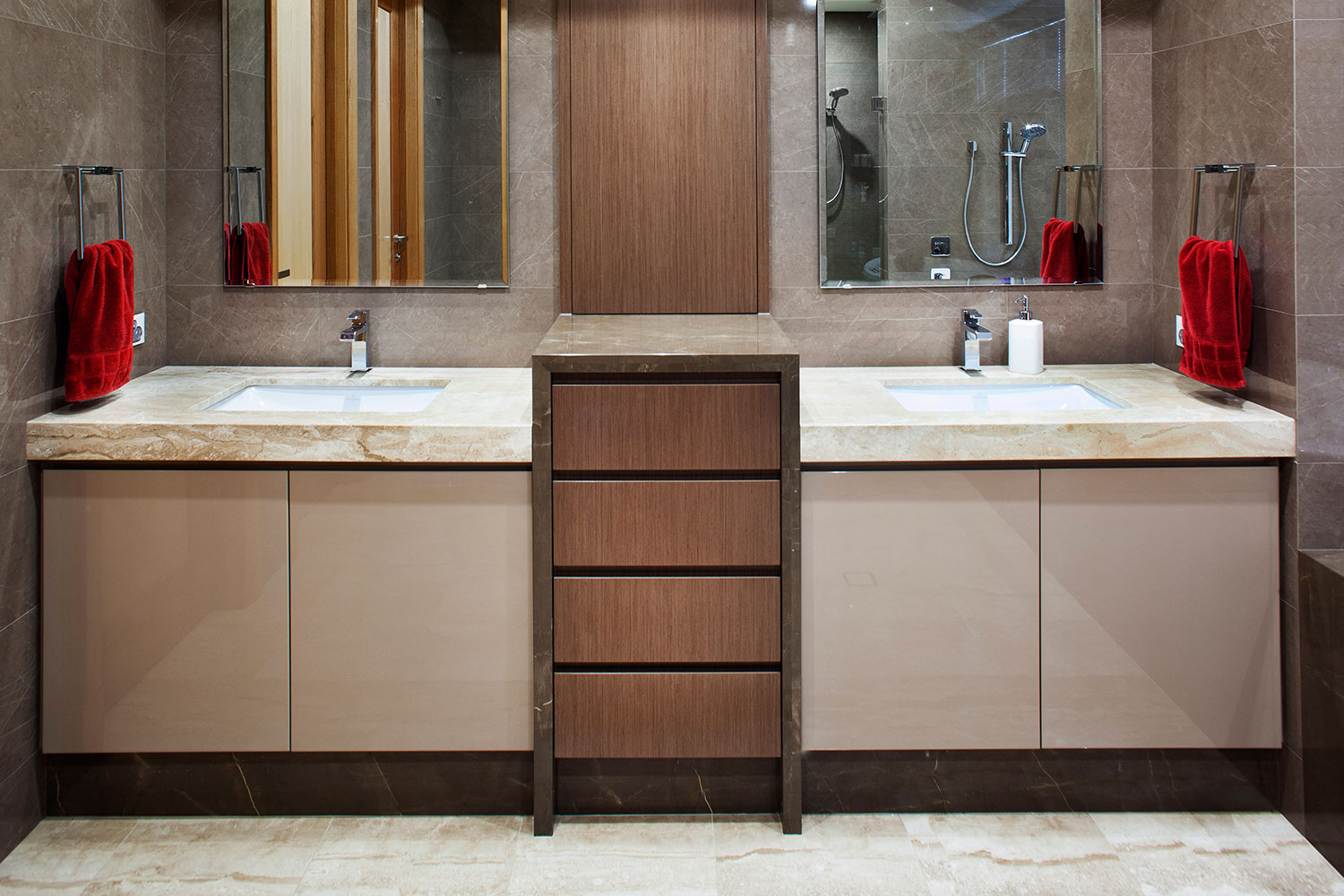 porcelain stone bathroom sinks and floor perth