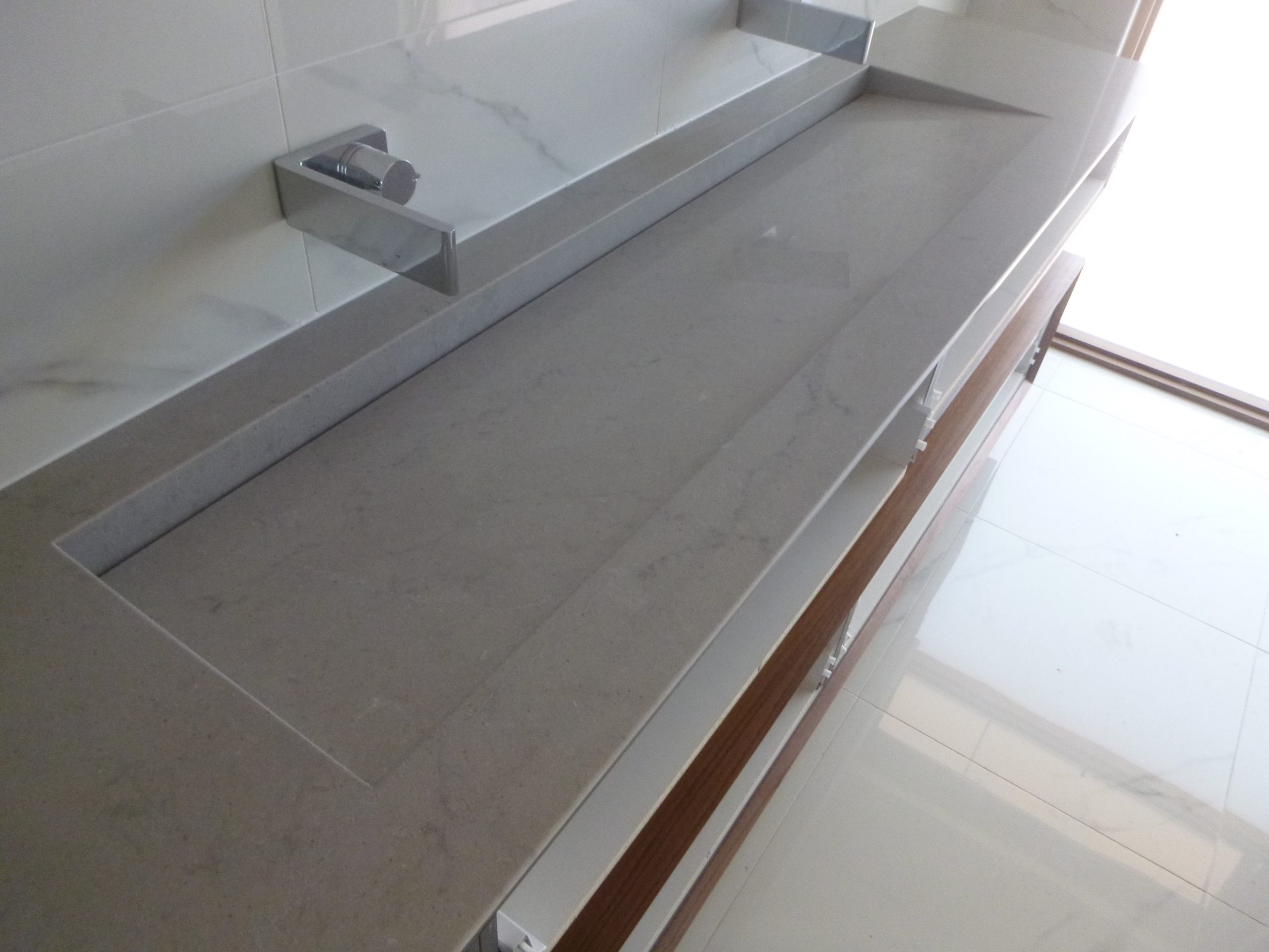 integrated porcelain stone bathroom basin
