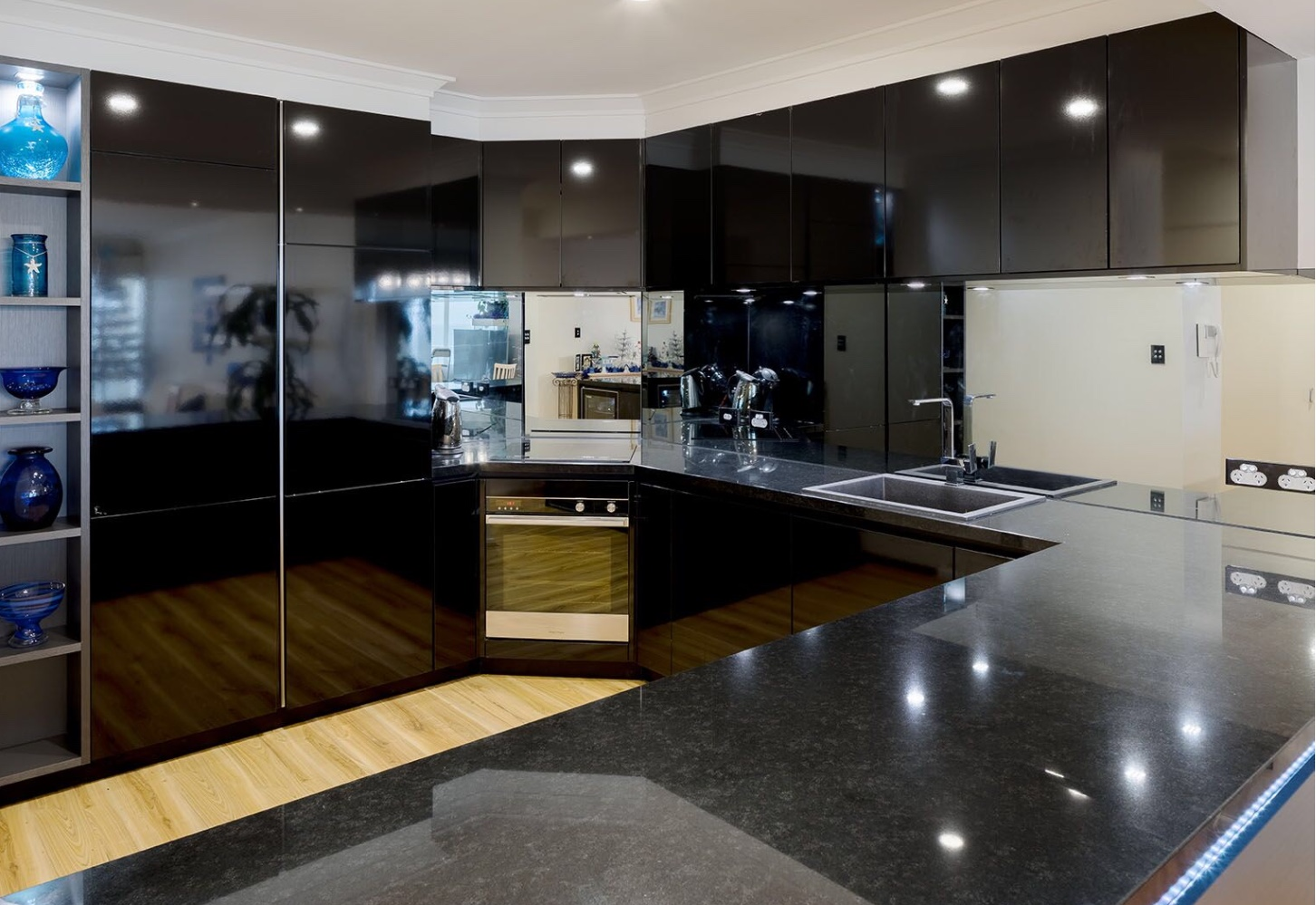 porcelain stone display kitchen